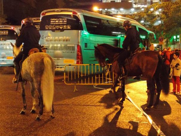 Caballos de la Policía en Rafael Salgado