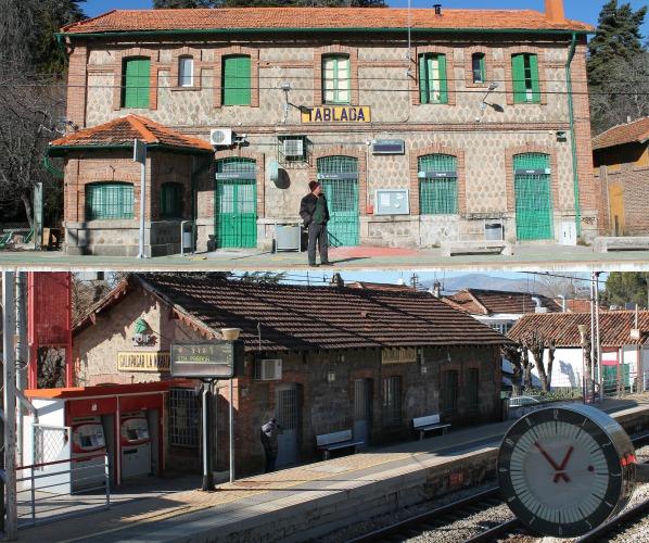 La estación de Tablada (1916) y La Navata-Galapagar (1861) sí mantienen sus edificios originales. Foto: Ó.Rus