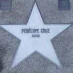 Estrella de Penélope Cruz en el Paseo de la Fama español