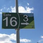Un cartel señalizador de las calles
