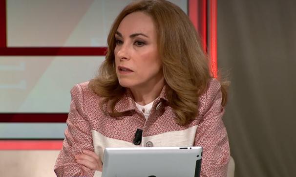 Angélica Rubio, durante una tertulia en Al Rojo Vivo