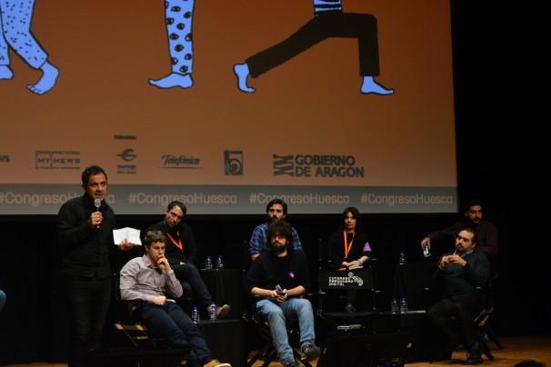 Françoise Musseau, de Diario Vivo, presentando su proyecto. Foto: Daniel Caballero