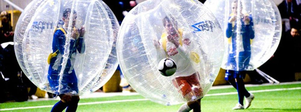 El «bubble football» es un nuevo deporte surgido en Noruega