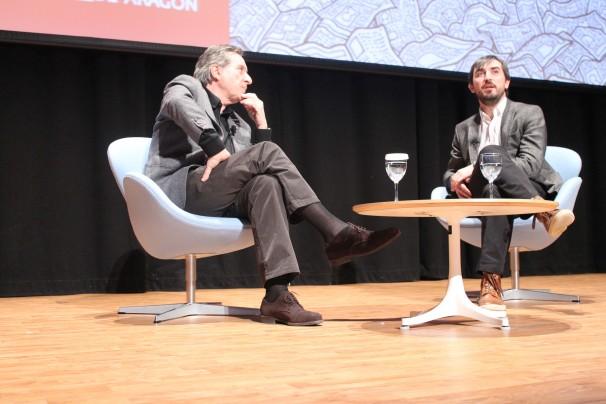 Iñaki Gabilondo charla con Ignacio Escolar. Foto: C.S.