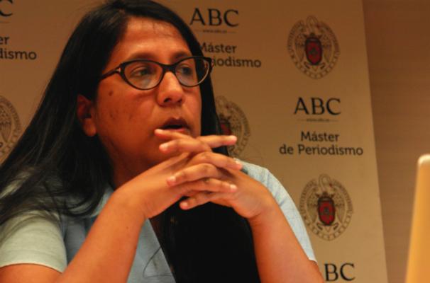 Gabriela Wiener durante el encuentro. Foto: J. T