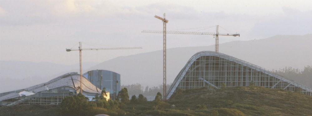 Vista de la Ciudad de la Cultura en el Monte Gaiás. EFE