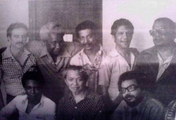 Larrinaga y el Grupo Antillano presidido por el maestro de la pintura cubana Wilfredo Lam