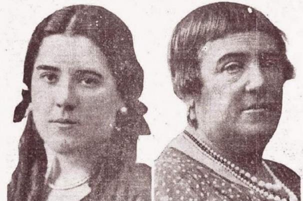 Hildegart Rodríguez junto a su madre y asesina, Aurora. Foto: La Vanguardia