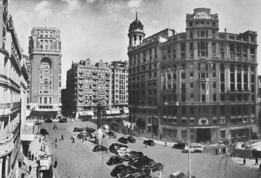 Hotel Florida en la plaza de Callao. Foto: ABC