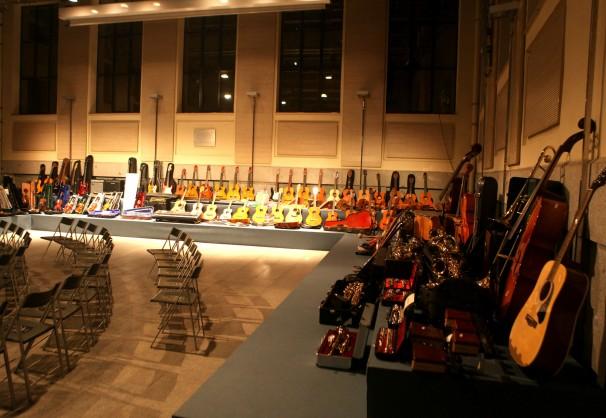 Todos los instrumentos al finalizar la recogida. Foto: Montemadrid