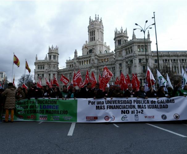 La manifestación del 24 de marzo. Foto:EFE