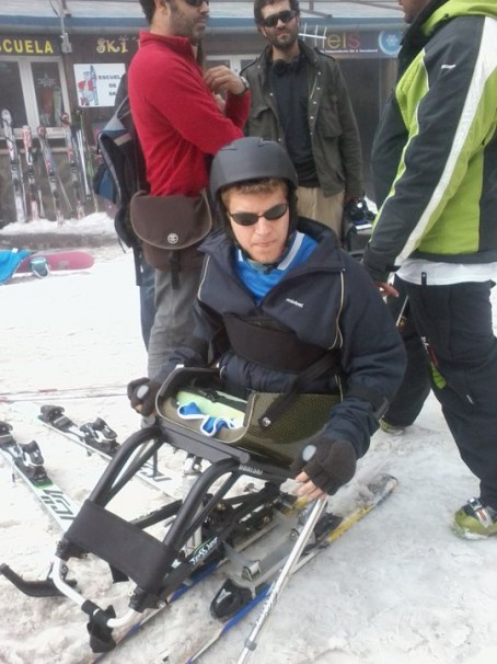 Javier esquiando
