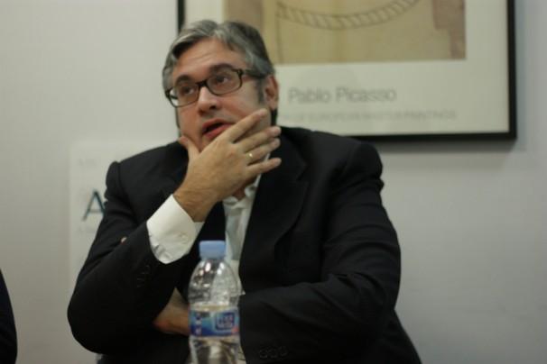 Juan Manuel de Prada durante su visita al Máster ABC