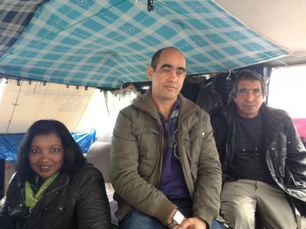 Carlos Rodríguez, Ridel Ruíz y la mujer de este