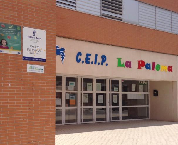 Entrada del Colegio Público «La Paloma»