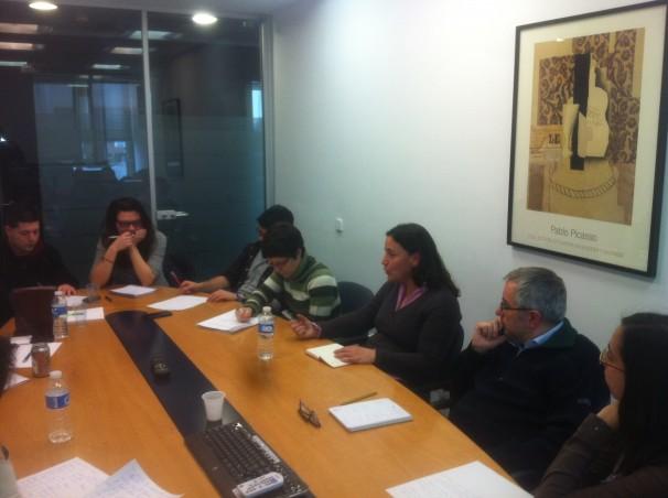 Carla Fabla durante la charla con el Máster de ABC