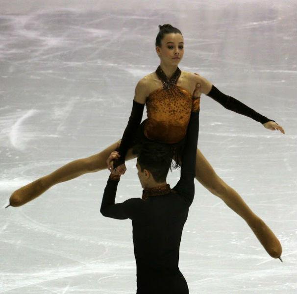 Laura y Miguel en la pista/ Foto: Daniel Taranco