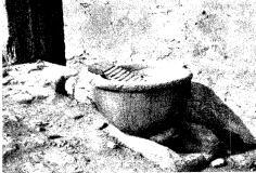 La pila bautismal de Polvoranca, reconvertida en lavadero