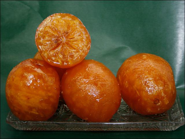 Limones confitados de Turrones Galiana Foto: T. Galiana