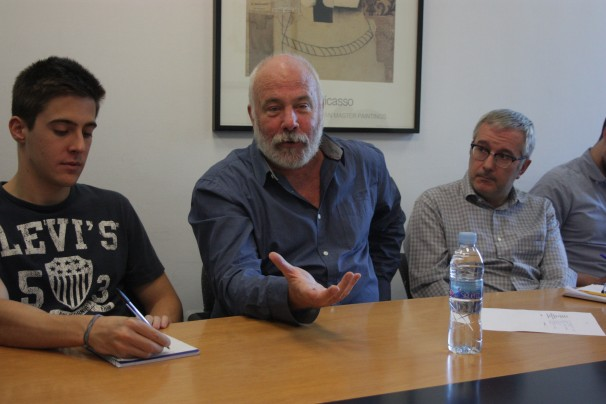 Ramón Lobo, durante la charla. Foto: R. R. W.