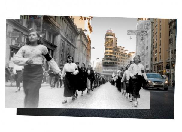 Una de las fotografías que integran la exposición «Madrid, ¡qué bien resistes!». Fotos: Javier Marquerie