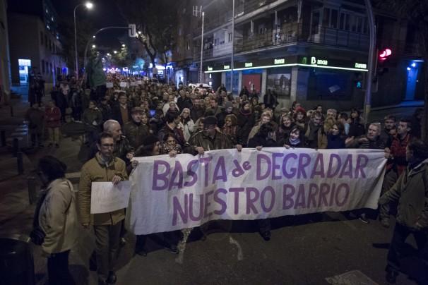 14/11/2017 Madrid, Manifestacion de vecinos de Vallecas contra la droga y la prostitución que abundan en el barrio Isabel Permuy ARCHDC