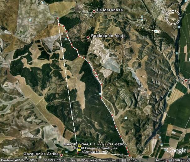 Mapa de la zona de atropellos de sapos. Fotos: Iván Gurrea