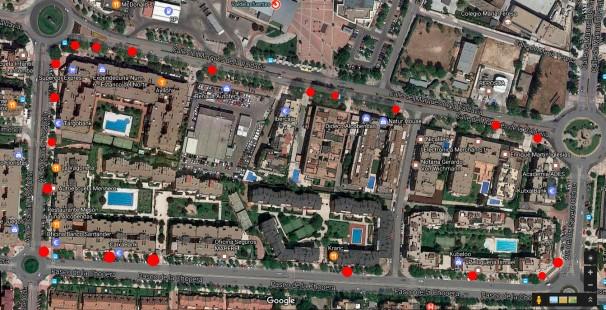 Mapa de las papeleras situadas en el distrito norte Foto: Ayto. Alcobendas