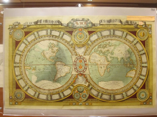 Mapa mundi de 1688. Fto: L.C