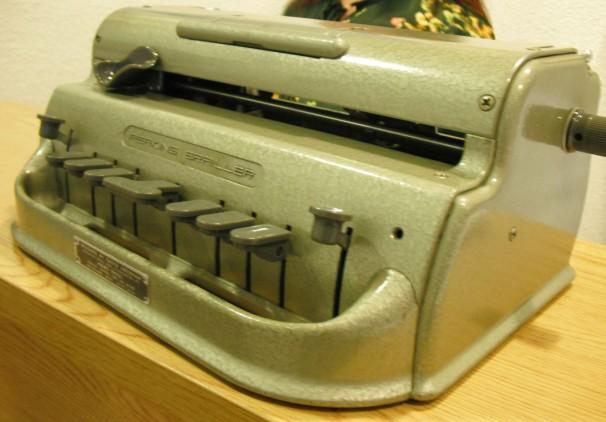 La máquina de escribir en braille de Salvadora