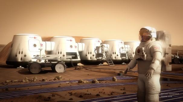 Recreación  de la vida en Marte. Imagen: Mars One