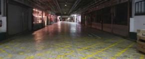 Los pasillos de Mercamadrid, vacíos