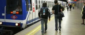 Un andén del metro de Madrid