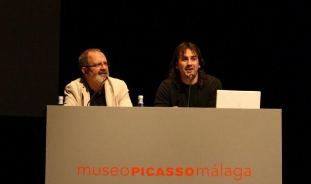 Casimiro Torreiro junto al cineasta Isaki Lacuesta en el Festival de Málaga de 2011. Foto: Malakao.es