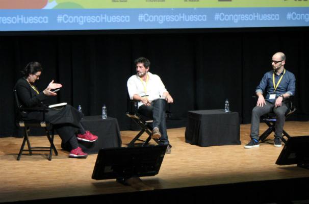 Ana Carbajosa, Jacobo García y Pablo Gutiérrez. Foto: M. Nieves Mira