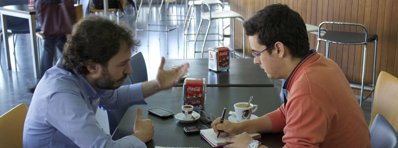 Pérez Colomé durante la entrevista