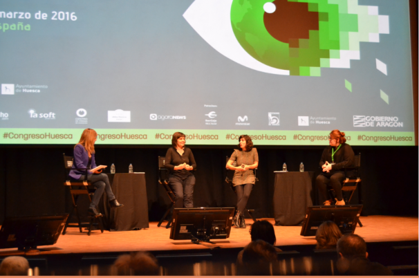 Ponencia «Nueva comunicación para una nueva política» en el Congreso de Periodismo Digital de Huesca / M.J