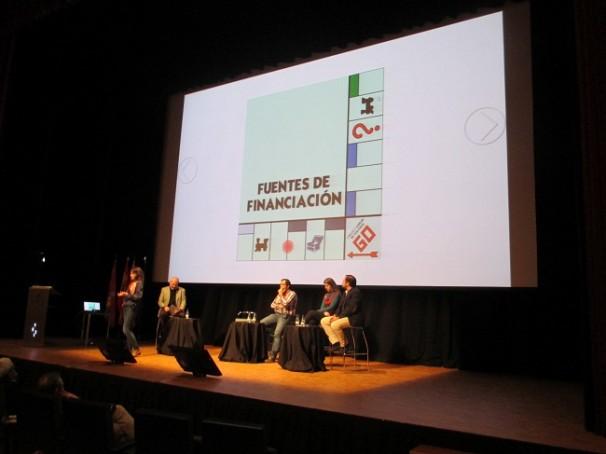 Los ponentes en un momento de la charla