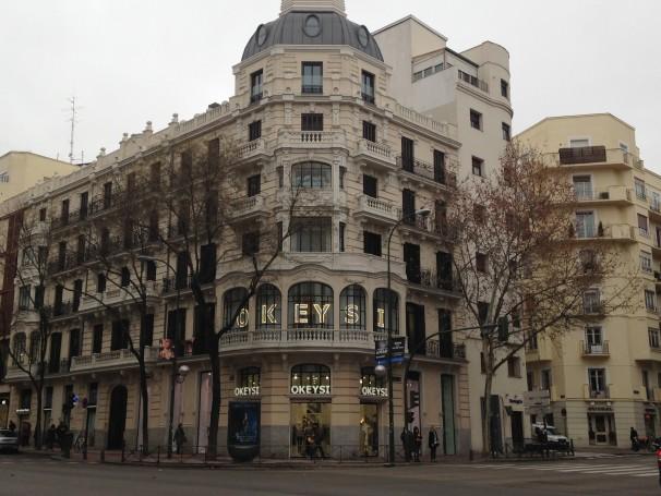 Fachada de Okeysi en la calle Goya. / Fuente: C.V.