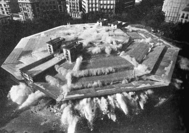 Demolición del mercado de Olavide