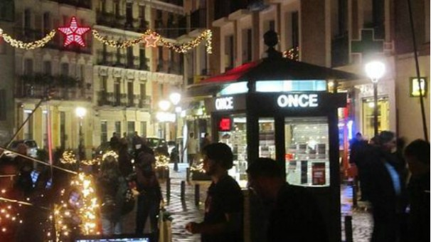 Puesto de lotería en Madrid. Foto: ABC