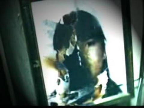 Fotografía de Estefanía ardiendo en el interior de un cuadro en el caso de la ouija de Vallecas - ABC