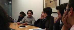 Pablo M. Díez, corresponsal en China, visita el Máster de ABC