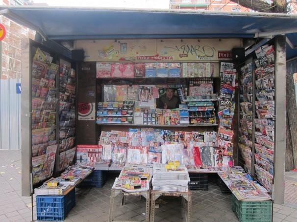 Una imagen del exterior del kiosko