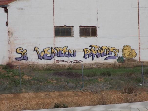 Grafiti que ilustra el producto típico de El Salobral. Foto: F.D-I.