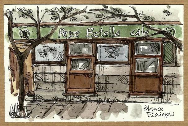 Ilustración del Pepe Botella. Foto: Blanca Escrigas