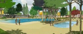 Recreación de cómo será la playa de Leganés. Fuente: Ayuntamiento de Leganés