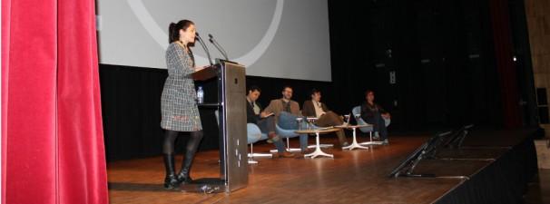 Durante la intervención de Alejandra Gutiérrez Valdizán, de Plaza Pública. Totos: Iara M.Búa