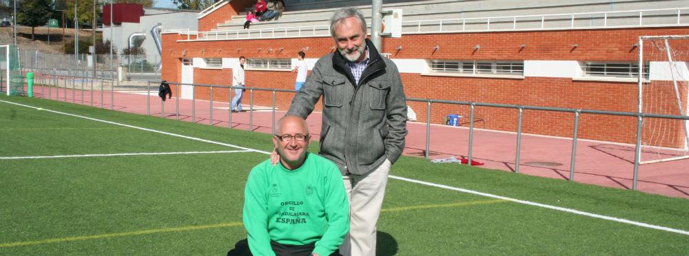 Roberto Abad e Iñaki Iglesias del Dinamo de Guadalajara.