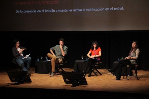 De izq. a dcha., Clara Jiménez, Juanlu Sánchez, Ángela R. Bonachera y Macarena Barrios